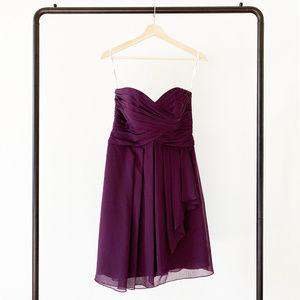 David's Bridal Short Crinkle Chiffon Dress Sz 4
